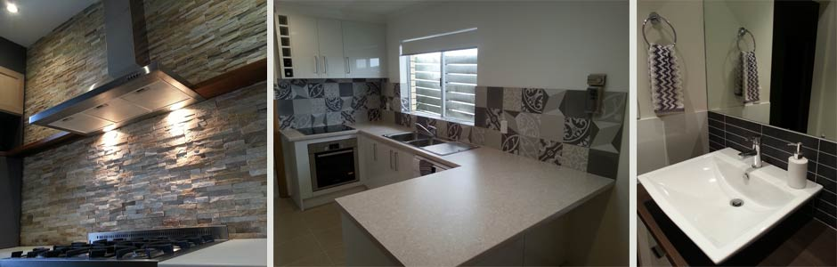 tiled splashbacks for bathrooms, kitchens and laundries
